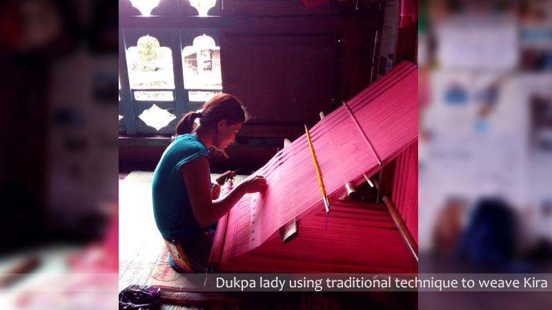 Dukpa lady weaving Kira_SPT